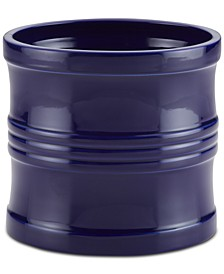 "Ceramics 7.5"" Tool Crock with Partition Insert, Navy Blue"