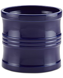"Circulon Ceramics 7.5"" Tool Crock with Partition Insert, Navy Blue"