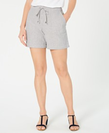 Style & Co Striped Drawstring Shorts, Created for Macy's