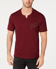 I.N.C. Men's Zippered T-Shirt, Created for Macy's