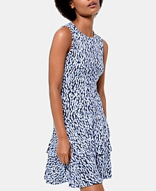 MICHAEL Michael Kors Printed Tiered Dress, In Regular and Petite