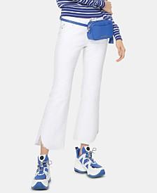 MICHAEL Michael Kors Frayed Slit-Hem Jeans