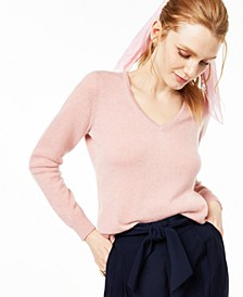 Petite V-Neck Cashmere Sweater, Created for Macy's