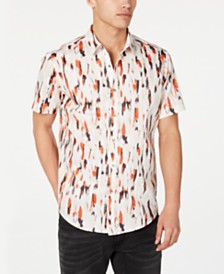 I.N.C. Men's Carson Watercolor Shirt, Created for Macy's