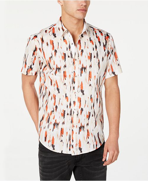 INC International Concepts INC Men's Carson Watercolor Shirt, Created for Macy's