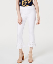 I.N.C. Studded Ruffle-Hem Pants, Created for Macy's