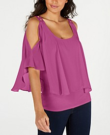 Cold-Shoulder Overlay Top, Created for Macy's