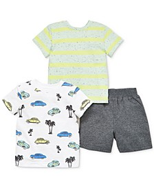 Baby Boys 3-Pc. Cotton Shirts & Shorts Set