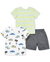 e1386ef6 Little Me Baby Boys 3-Pc. Cotton Shirts & Shorts Set