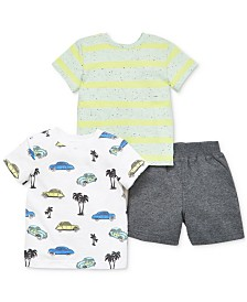 Little Me Baby Boys 3-Pc. Cotton Shirts & Shorts Set