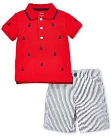 Little Me Baby Boys 2-Pc. Cotton Polo Shirt & Shorts Set