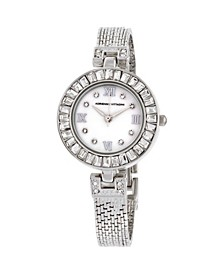 Collection Women's Silver Quartz Watch with Mother of Pearl Dial