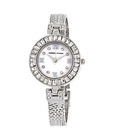Adrienne Vittadini Collection Women's Silver Quartz Watch with Mother of Pearl Dial