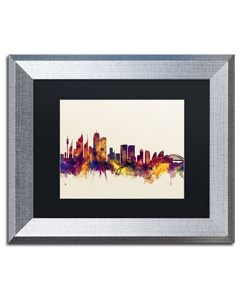 """Trademark Global Michael Tompsett 'Sydney Australia Skyline' Matted Framed Art - 11"""" x 14"""""""