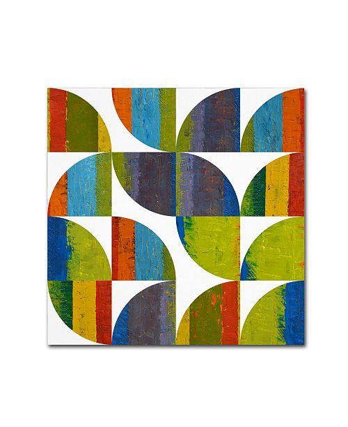 "Trademark Global Michelle Calkins 'Quarter Rounds 1.0' Canvas Art - 14"" x 14"""