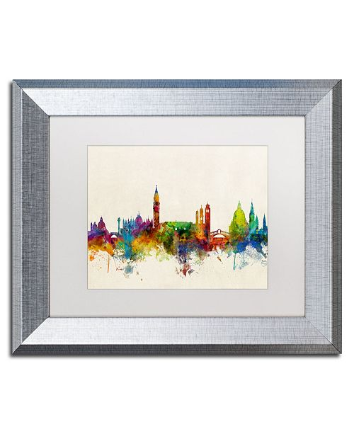 "Trademark Global Michael Tompsett 'Venice Italy Skyline Beige' Matted Framed Art - 11"" x 14"""