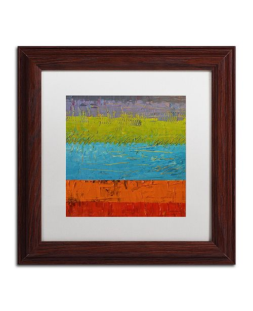 "Trademark Global Michelle Calkins 'Wetlands' Matted Framed Art - 11"" x 11"""