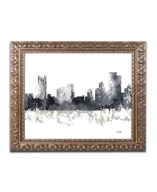 Home Decor Pittsburgh Pa: Trademark Global Marlene Watson 'Pittsburgh PA Skyline BG