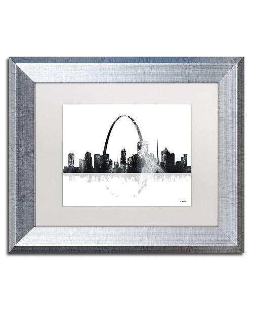 "Trademark Global Marlene Watson 'St Louis Missouri Skyline' Matted Framed Art - 11"" x 14"""