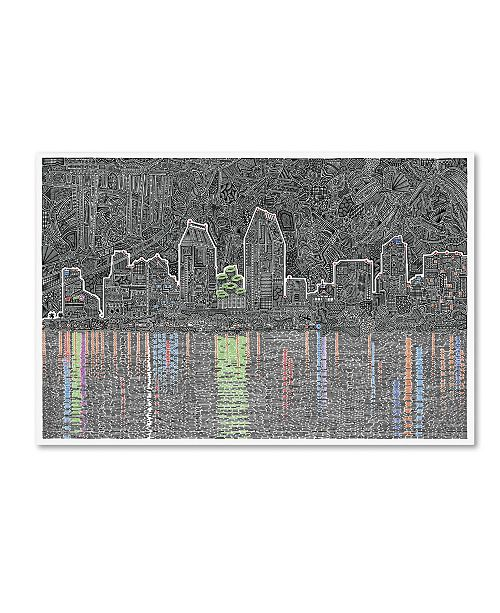 Trademark Global Viz Art Ink 'Reflecting San Diego' Canvas