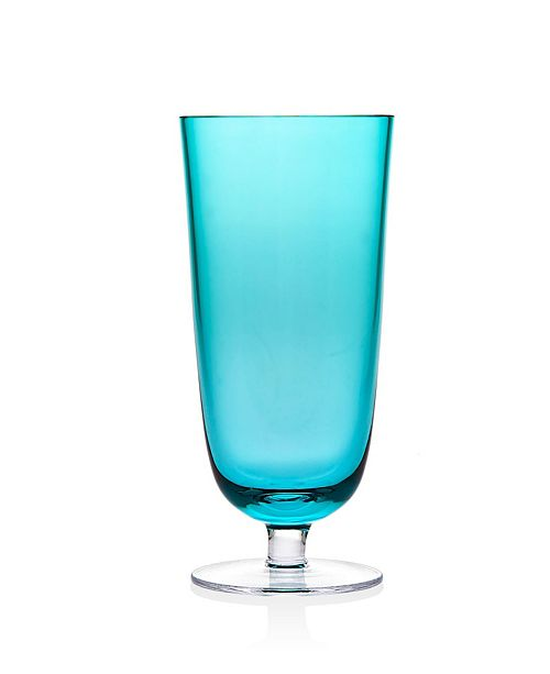 Godinger Novo Rondo Sea Blue Highball Glass - Set of 4