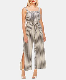 Striped Tie-Waist Jumpsuit