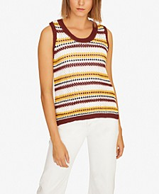 Sunland Stripe Cotton Sleeveless Sweater