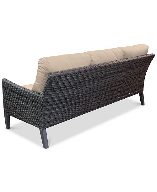 Amari Pepper Outdoor Sofa with Sunbrella® Cushions
