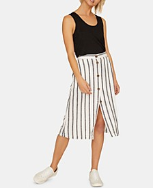 Mabel Striped Midi Skirt