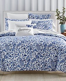 Charter Club Damask Designs Textured Paisley Comforter Sets, Created for Macy's