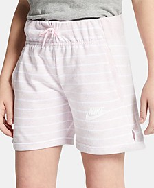 Nike Big Girls Striped Shorts
