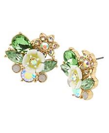 Betsey Johnson Flower Cluster Stud Earrings