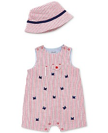 Little Me Baby Boys 2-Pc. Cotton Bucket Hat & Sunsuit Set