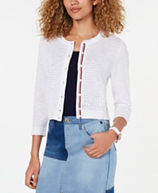 Tommy Hilfiger Cotton Shrug Cardigan, Created for Macy's