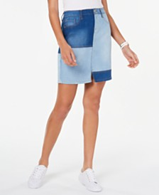 Tommy Hilfiger Patchwork Denim Skirt, Created for Macy's