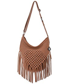 Filmore Leather Macrame Hobo
