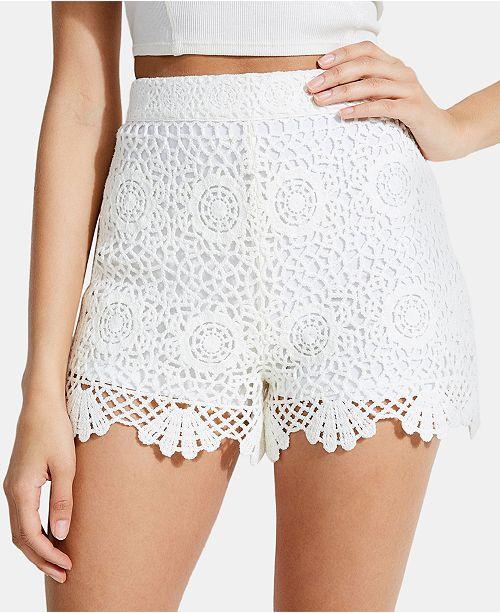 Guess Olisa Crochet Shorts Reviews Shorts Juniors Macys