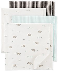 Baby Boys or Girls 4-Pk. Printed Cotton Swaddle Blankets