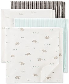Carter's Baby Boys or Girls 4-Pk. Printed Cotton Swaddle Blankets