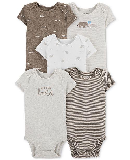 Carter's Baby Boys & Girls 5-Pk. Bodysuits