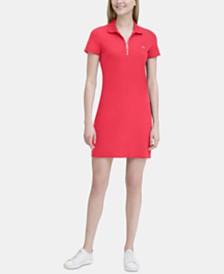 Calvin Klein Short-Sleeve Zip-Up Dress
