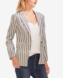 Vince Camuto Striped One-Button Blazer