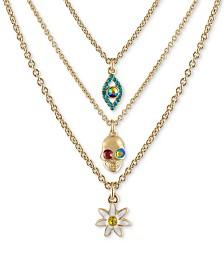 """RACHEL Rachel Roy Gold-Tone 3-Pc. Set Crystal Mystical-Motif Pendant Necklaces, 16"""" + 2"""" extender"""