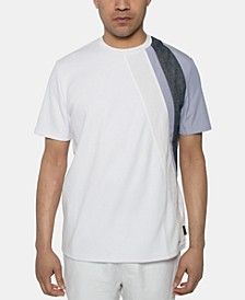 Men's Textured Pieced Colorblocked T-Shirt