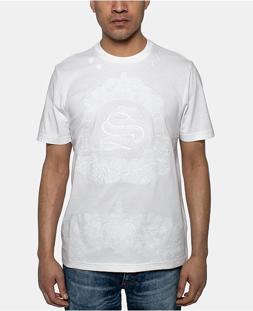 Sean John Men's White Party MCM Logo Graphic T-Shirt