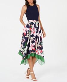 Vince Camuto Floral A-Line Dress