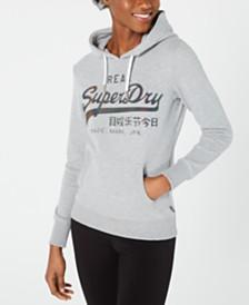 Superdry Glitter-Embossed Logo Hoodie