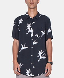 Zeegeewhy Men's Swan Graphic Shirt