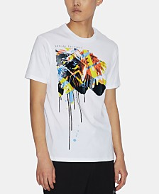 A|X Armani Exchange Men's Painterly Eagle Graphic T-Shirt