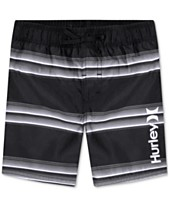 4798fe196d754 Hurley Toddler Boys Striped Board Shorts Swim Trunks